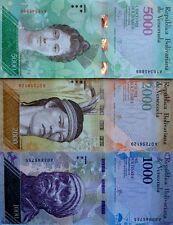VENEZUELA 2007 2016 2 5 10 20 50 100 500 1000 2000 5000 NEW COLOURFUL UNC NOTES!