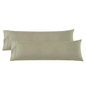 Body Pillowcase - 2 Microfiber Pillow Case -Body Pillow Size 20x54, Sage