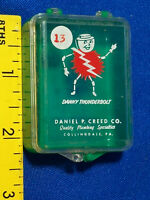 Advertising Graphics! Danny Thunderbolt VTG Creed Electric Shock Guy Plumbing