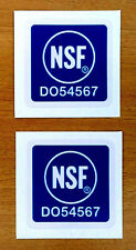 "TWO 2 NSF NATIONAL SCIENCE SPACE NASA RESTAURANT SAFETY DECAL STICKERS 1"" x 1"""