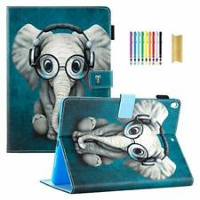 IPad Air 2019 Case Pretty Flip Smart PU Leather Magnetic Stand Cover Elephant