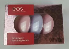 Eos Evolution of Smooth 3 pack Hand Lotions Berry Blossom & Delicate Petals New