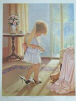 """Miguel Paredes Lithograph Print """"Playing Dress-up"""", Signed & Numbered, AP 22/95"""