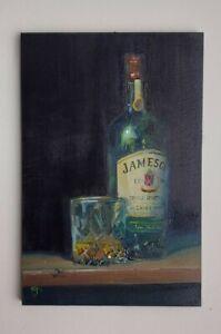 "Original ACEO William Jamison 6"" x 4"" Oil Painting Jameson Irish Whiskey Ireland"