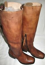 New Ariat Sawyer Brown Leather Tall Lace Up Knee High Boots Womens Size 9