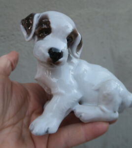 Antique Rosenthal Germany Terrier Puppy Dog Figurine 1121 Kunstabteilung KARNER
