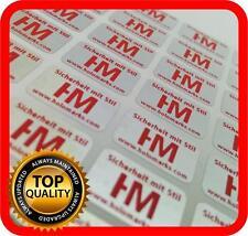 Red print! 1500 Security hologram labels, void warranty tamper seals 14x9mm