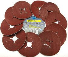 Fibre Sanding Abrasive Discs 115mm 36 Grit Pack of 10 TZ AB148