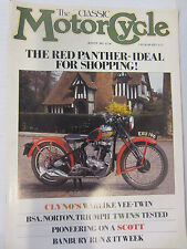 The Classic Motorcycle Magazine August 1987 BSA Norton Triumph Twins Red Panther