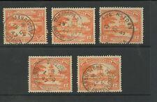 BRITISH GUIANA 1947 VILLAGE POSTMARKS MAHAICONY TELEGRAPH SKELDON etc 5 stamps