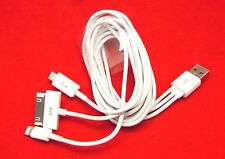 4 en 1 cable USB para Lightning iPhone 2g 3g 3gs 4 4s 5 samsung tab Tablet