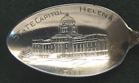 Sterling Souvenir Spoon Helena, MT State House, 1900