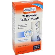 AcneFree Acne Free Therapeutic Sulfur Mask Color Signal Technology NIB Acne