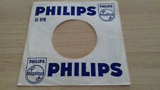 "original company sleeve for 7"" singles philips"