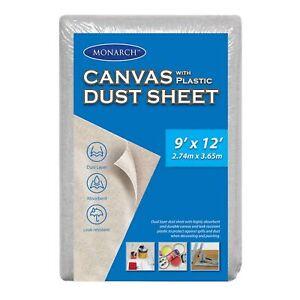 NEW Monarch Canvas Plastic Drop Dust Sheet - 9 x 12