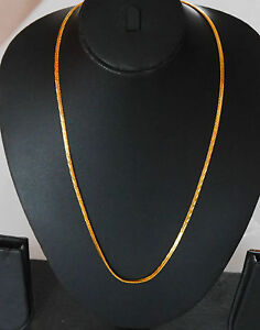 Indian gold plated 22 in  long curb twist chain kapa  Jewellry gold chain