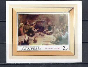 ALBANIA - 1969 PAINTINGS SOUVENIR SHEET - SCOTT 1217 - MNH
