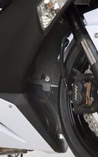 R&G BLACK RADIATOR GUARD for KAWASAKI ZX6-R 636, 2013 to 2017