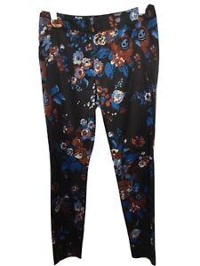 Cue Floral Sateen Pants Size 8