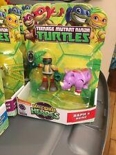 Teenage Mutant Ninja Turtles Half-Shell Heroes Raph & Rhino New in Box