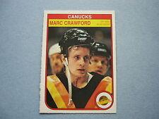 1982/83 O-PEE-CHEE NHL HOCKEY CARD 342 MARC CRAWFORD ROOKIE NM SHARP!! OPC 82/83