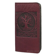 World Tree Wine Leather Checkbook Cover by Oberon Design COMBINED SHIPPING