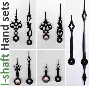 Clock hands for quartz movement, I shaft / Euroshaft (Seiko, SKP, etc), 23 sizes