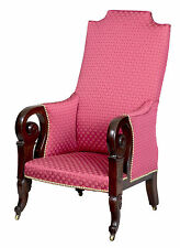 SWC-Carved Upholstered Classical Armchair, possibly Southern, c.1830