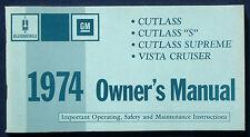 Owner's Manual Betriebsanleitung 1974 Oldsmobile Cutlass  Vista Cruiser    (USA)