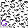 Dragonfly Fusing Glass Decal Ceramic Waterslide Enamel-Black Gold Metallic Fused