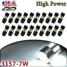 20x Pure White 3157 3156 Projector 12 SMD Chip LED Backup Reverse Light Bulbs