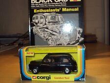 1:36 CORGI 425 FX4 AUSTIN LONDON TAXI BLACK CAB & HAYNES ENTHUSIASTS GUIDE BOOK