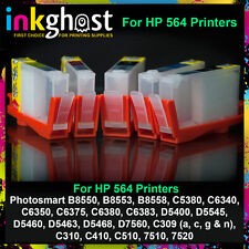 Refillable Cartridges for HP 564 C309 7520 C510 C410 C310 printers with chips x5