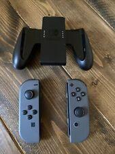 Original Nintendo Switch Joy Con Controller Set Gray Joy Cons W/ Comfort Grip