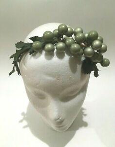 Vtg Faux Green Grape Vines Hair Band Head Band Hair Accessories One Size