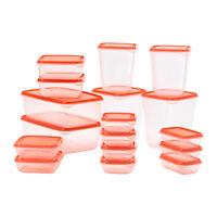 IKEA ORANGE PRUTA FOOD SAVER STORAGE BOX 17 PIECE CONTAINER  FOOD STORAGE BOX