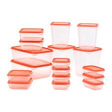 IKEA Orange Pruta Food Saver Boîte de rangement 17 pièces Récipient Nourriture Boîte de rangement