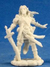1 x ARAEL DEMI ELF CLERC- BONES REAPER figurine miniature rpg d&d half elf 89028