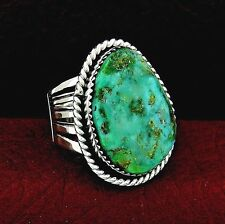 Sterling Silver Turquoise Men's Ring  Size 12  Native American Handmade -- R22 C