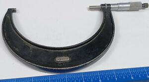 L.S. STARRETT No 436 Mic 5 inch to 6 inch engine metal machinist micrometer