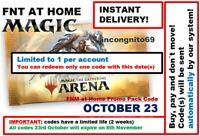 MAGIC MTGA MTG Arena Code FNM Home Promo Pack OCT OCTOBER 23 INSTANT EMAIL