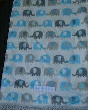 Petite L'Amour Infant Elephant Blanket White Blue Gray Plush Sherpa