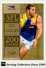 2012 Select AFL Champions Milestone Card MG70 Darren Glass (West Coast)