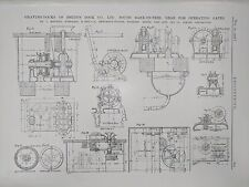 Graving Docks: Gear For Operating Gates: Tees: 1908 Engineering Magazine Print