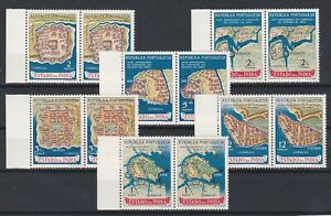 Portugal - Portuguese India Nice Complete Set in Pairs MNH