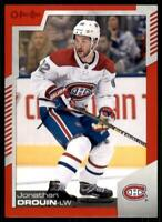 2020-21 UD O-Pee-Chee Red Border #292 Jonathan Drouin - Montreal Canadiens
