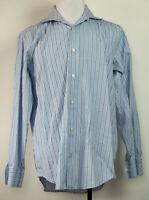 Banana Republic Blue Striped Button-Front L/S Dress Shirt 16-16 1/2 L