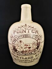 "Rare Maryland Rye "" Red Pointer "" Antique Gottschalk Co. Advertising Whiskey Jug"