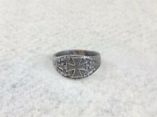 Antique 'Iron For Gold' Ring Wwi Dhg Ny 1914 German Authentic Iron Cross