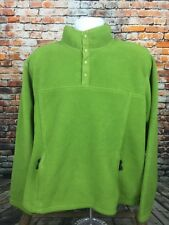 L.L. Bean Men's T-Snap Lime Green Fleece Pullover Sweater XL